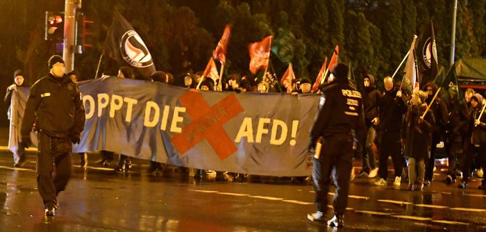 Demo gegen die Weihnachtsfeier der AfD-Pankow in Blankenburg (06.12.2018)