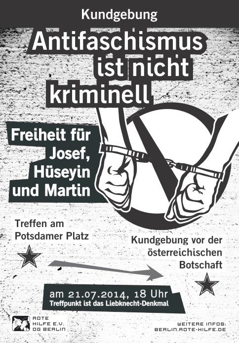 Flyer - Free Josef-Kundgebung