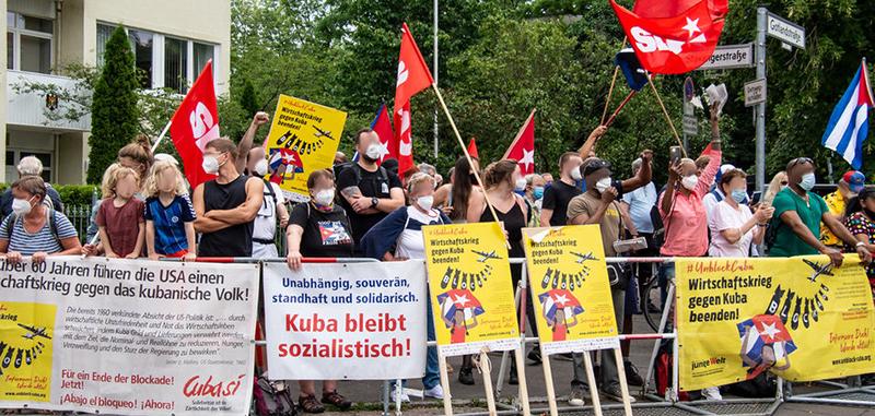Kundgebung vor der kubanischen Botschaft